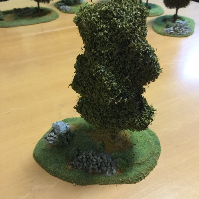 Finished Of The Wire Wool Trees Wargamesgazette